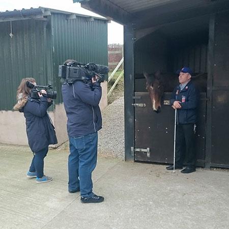 TV crew visits yard