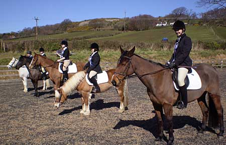 Competitors at the BHS Puffa Riding School's Equitation Competition
